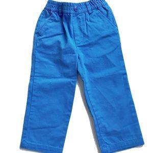 NWT E-Land Kids Blue Cotton Trouser Pants Boy 2T